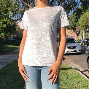 Vince silver velvet T-shirt